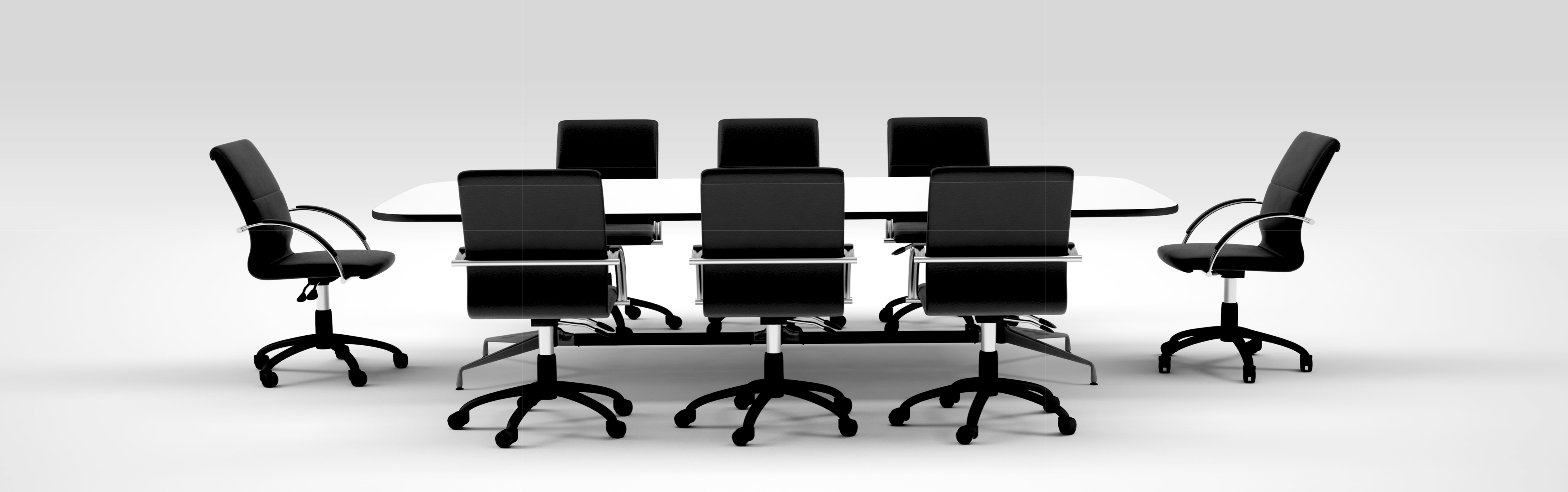 Stock Photo of Board of Directors Meeting Table