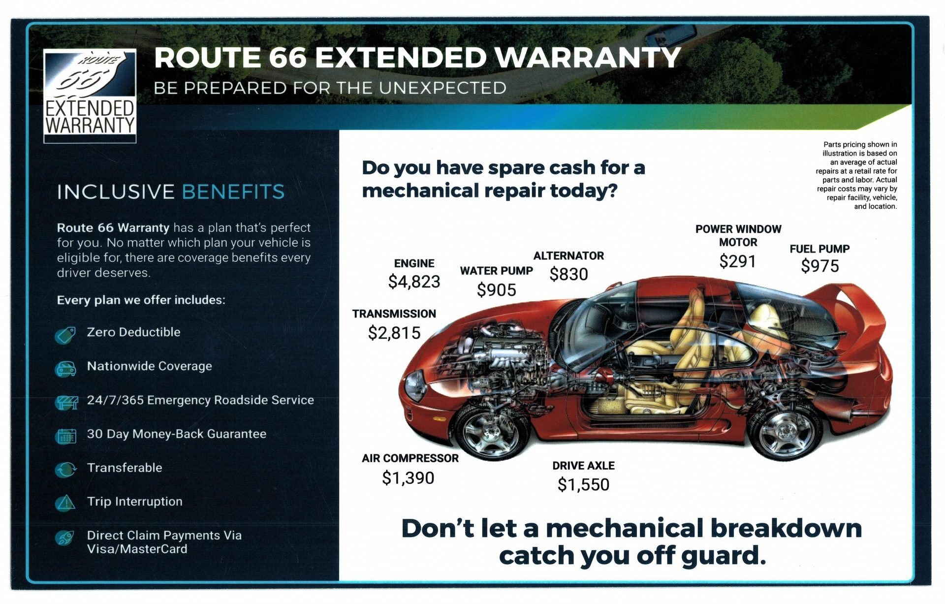 ROUTE 66 VEHICLE EXTENDED WARRANTY