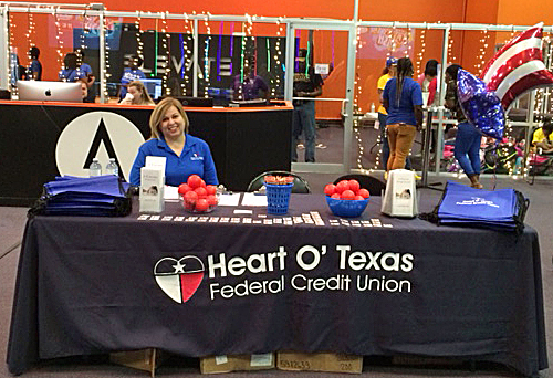 HOTFCU table setup at community event