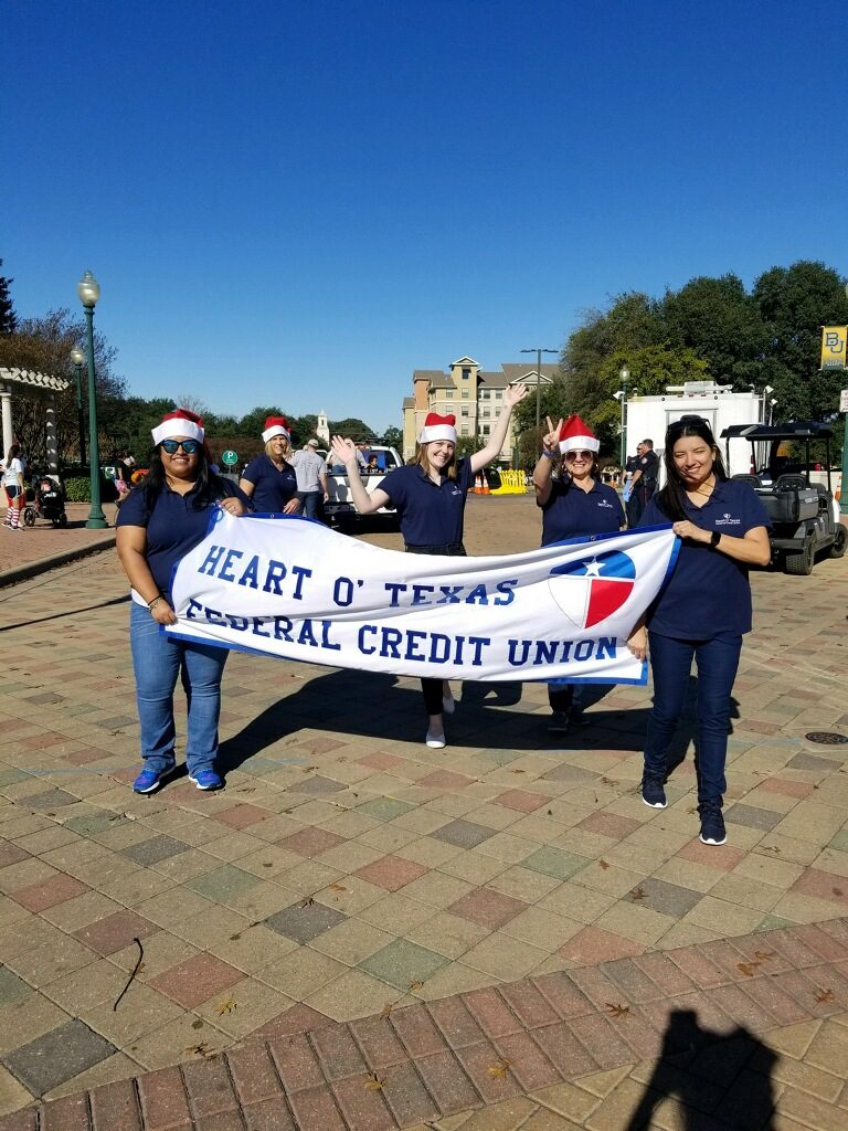 Staff picture of christmas parade