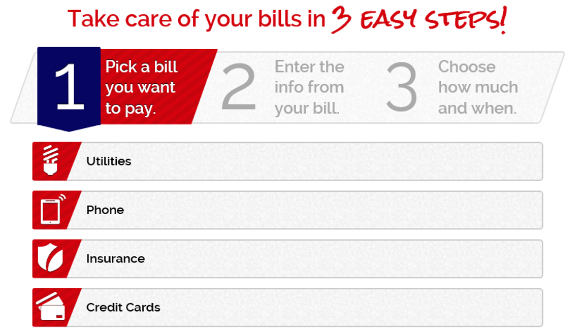 Steps for Bill Pay