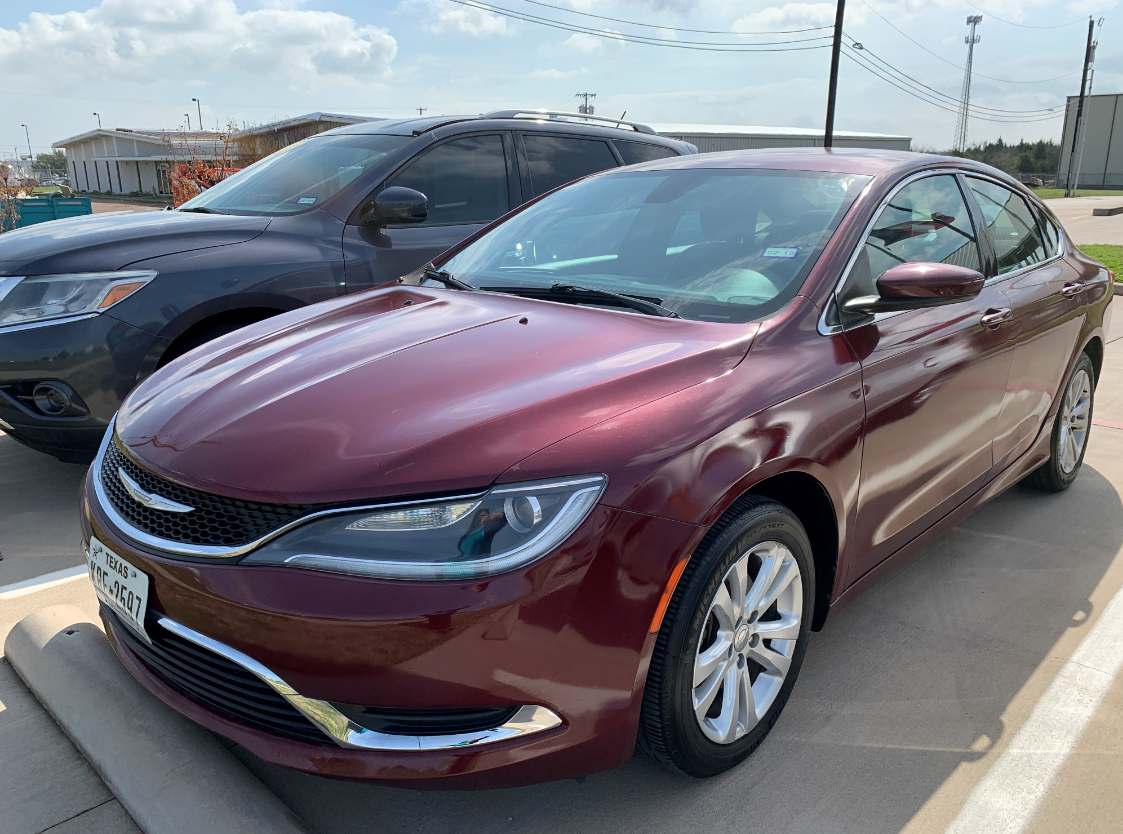 2015 red chrysler 200 sedan