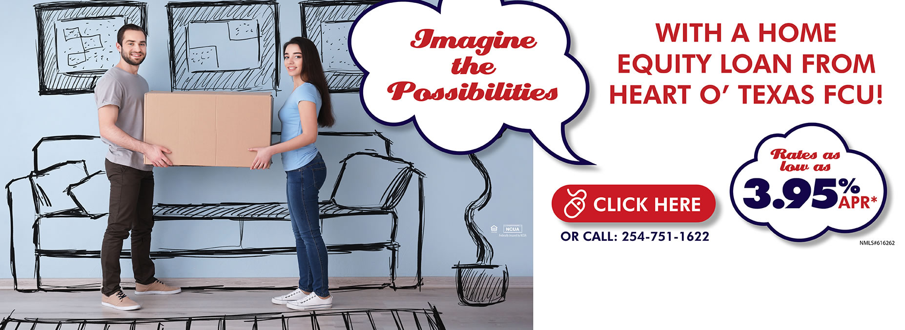 Imagine the Possibilities of a Home Equity Loan from HOTFCU!